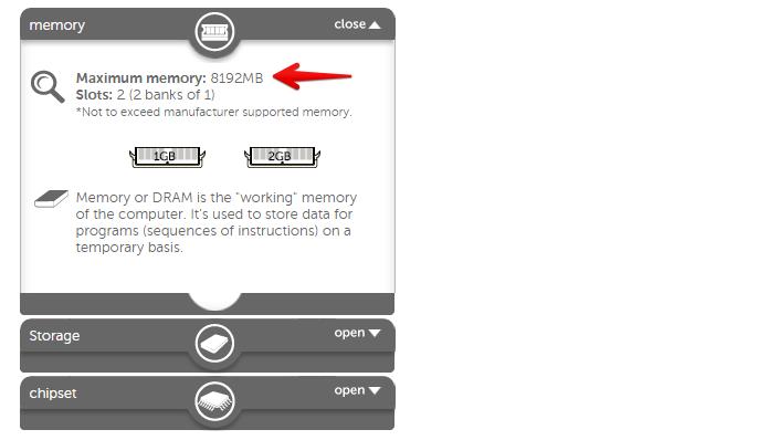 Quantidade máxima de memória RAM suportada pelo computador (Foto: Reprodução/Helito Bijora)