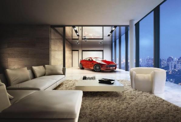 Uma garagem bem diferente