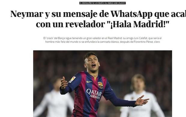 Jornal El Confidencial sobre Neymar