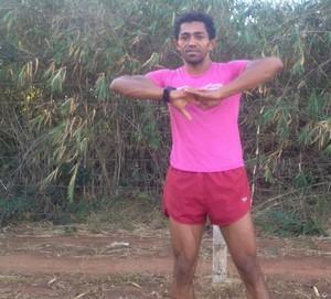 Vagner Silva, atleta de Palmas  (Foto: Edson Reis/GloboEsporte.com)