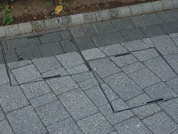 Novos modelos de bueiros adaptados ao piso de concreto (Foto: Divulgação )