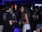 Ex-namorados Talita Araújo e Rafael Licks têm saia justa no Rock in Rio