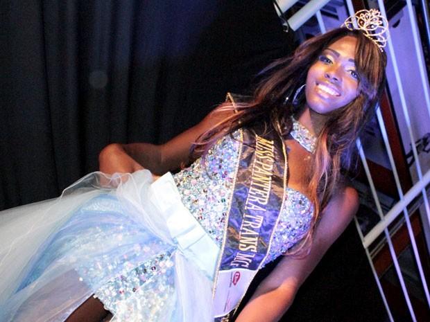 Representante de Betim foi eleita a miss pantera trans (Foto: Alex Contri / Divulgação Shopping Uai)