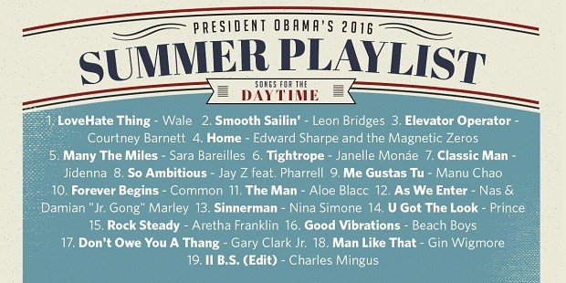 A playlist de Barack Obama para os dias de vero nos Estados Unidos (Foto: Reproduo/Twitter)