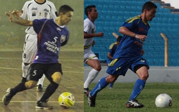 Atacante Pimentinha joga futsal pelo Maranhão e futebol de campo pelo São José (Foto: Montagem)