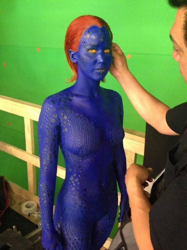 Jennifer Lawrence como a personagem Mystique, de X-Men (Foto: Twitter / Reprodução)