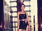 Depois de look sem calcinha, Maria Melilo investe em fenda para camarote