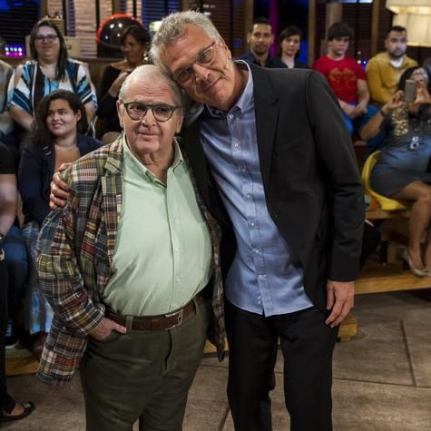 Jô Soares e Pedro Bial (Foto: Estevam Avellar/TV Globo)