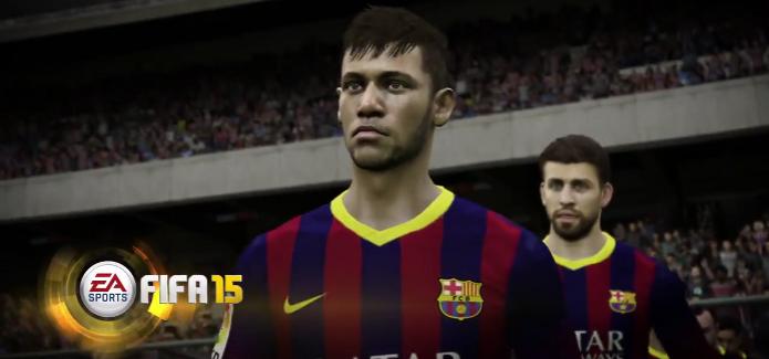 Fifa 15 Neymar Trailer (Foto: Fifa 15 ganhou novo vídeo que mostra detalhes de rostos de jogadores como Neymar. (Foto: Reprodução/YouTube))