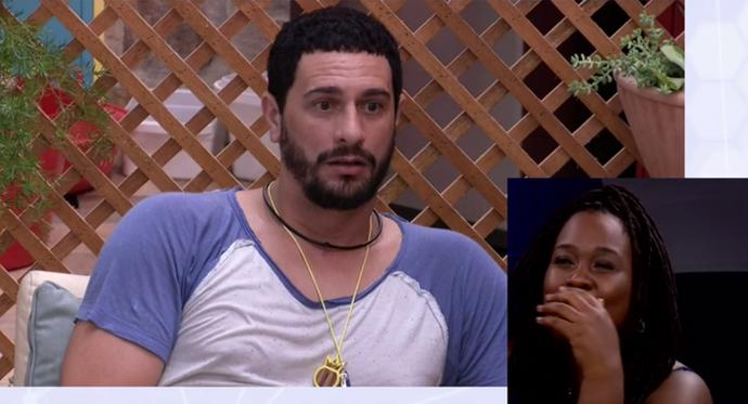 Roberta ri da expressão de Daniel ao saber que a paulista estava a fim dele (Foto: Gshow)