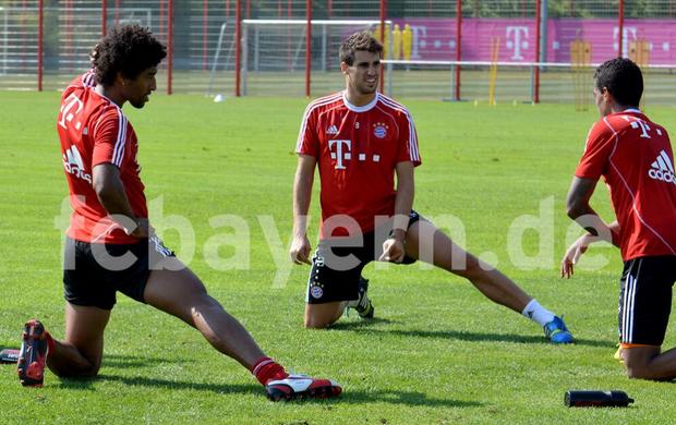 Dante, Luiz Gustavo e Javi Martínez voltam ao Bayern de Munique (Foto: Divulgação / Bayern de Munique)