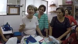 Saiba como ajudar o grupo de senhoras que doa enxoval para bebês (Foto: TV Globo)