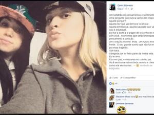 Amiga da vítima fez depoimento emocionado de despedida nas redes sociais (Foto: Reprodução/Facebook)