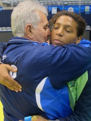 judô Rafaela Silva e Geraldo Bernardes (Foto: Thierry Gozzer)