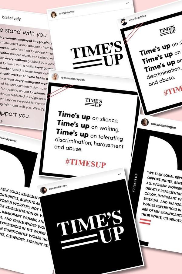Celebridades postam em apoio ao movimento Time's Up (Foto: Reprodução)