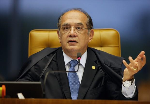 O ministro do Supremo Tribunal Federal (STF), Gilmar Mendes, participa de audiência (Foto: Elza Fiúza/Agência Brasil)