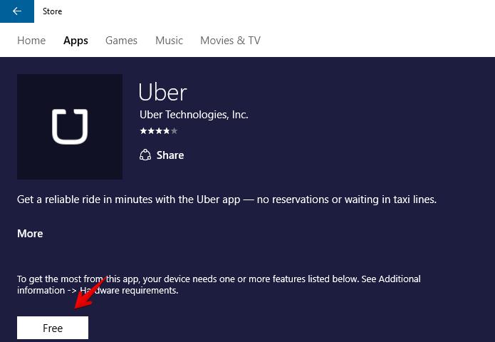 Instalando o Uber no Windows 10 (Foto: Reprodução/Helito Bijora)