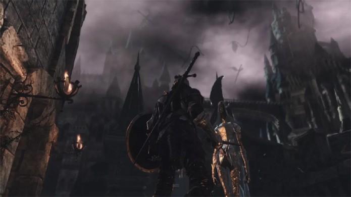 Grandes ambientes exibem belos gráficos de Dark Souls 3 (Foto: Reprodução/OnlySP)