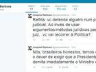 No Twitter, Joaquim Barbosa cobra demissão do ministro da Justiça