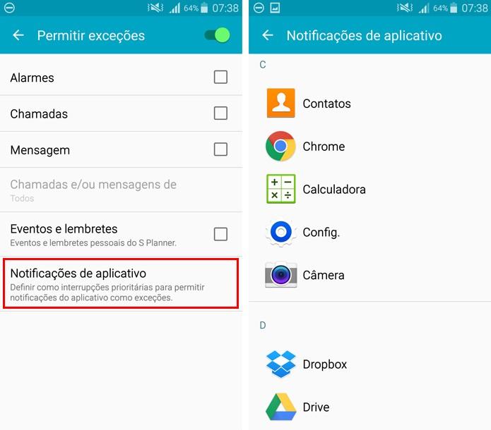 Escolhas os aplicativos que continuarão a enviar notificações (Foto: Reprodução/Aline Batista)