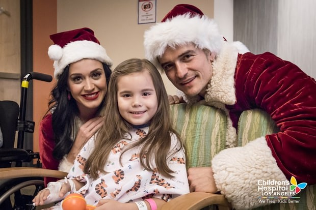 Katy Perry e Orlando Bloom (Foto: Divulgação / Children's Hospital de Los Angeles)