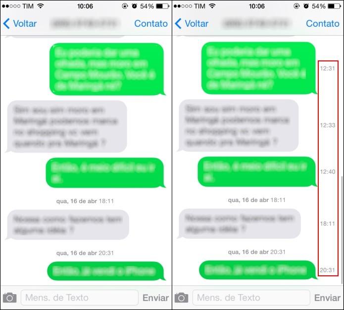 3898cf2d5b8 Consultado hora que SMS foi recebido (Foto  Reprodução Helito Bijora)