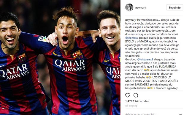 Neymar trio MSN Barcelona