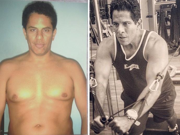 Luka Ribeiro antes e depois (Foto: Arquivo pessoal)