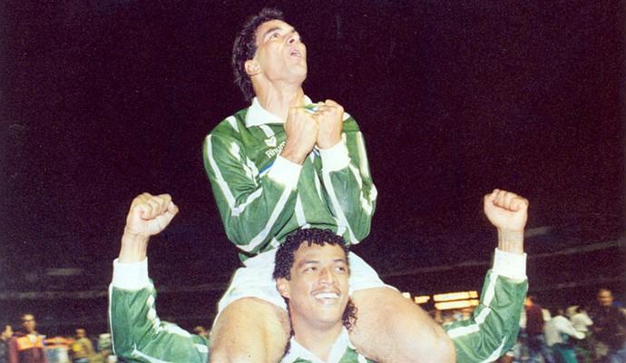 Paulistão 1993 Tonhão Edmundo Palmeiras (Foto: Vidal Cavalcante / Agência Estado)