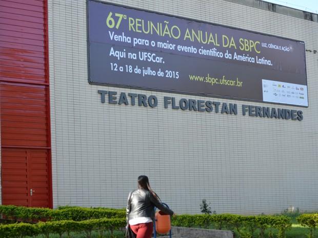 67ª Reunião Anual da SBPC acontece em São Carlos até o dia 18 de junho (Foto: Stefhanie Piovezan/G1)