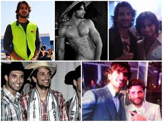 Paulo em vários momentos de sua carreira como modelo e figurante (Foto: Arquivo Pessoal)