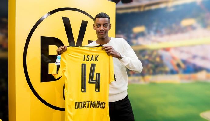 Alexander Isak Borussia Dortmund (Foto: Reprodução / Facebook)