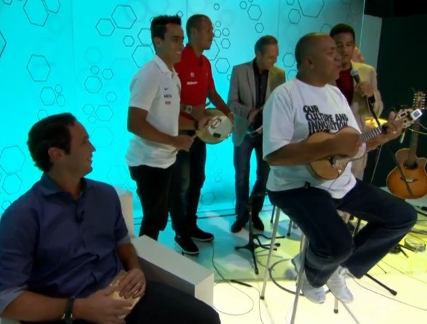 Jadson e Luis Fabiano no Bem, Amigos (Foto: Reprodução SporTV)