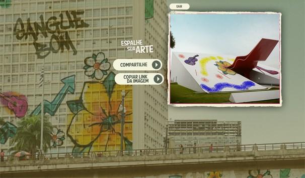 Auditório Ibirapuera, Masp, avenida Paulista... escolha o lugar e pinte! É só clicar na imagem acima (Foto: Globo)