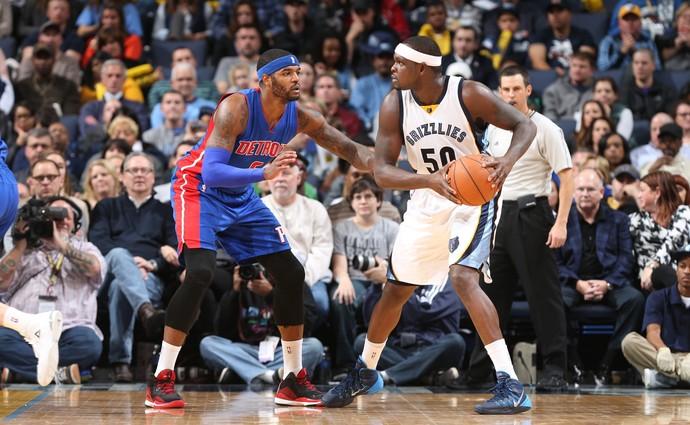 Zach Randolph NBA Memphis Grizzlies Detroit Pistons (Foto: Joe Murphy / Getty Images)