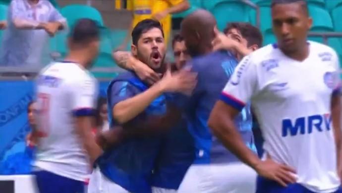 Bahia Londrina Fonte Nova (Foto: Reprodução/Premiere FC)