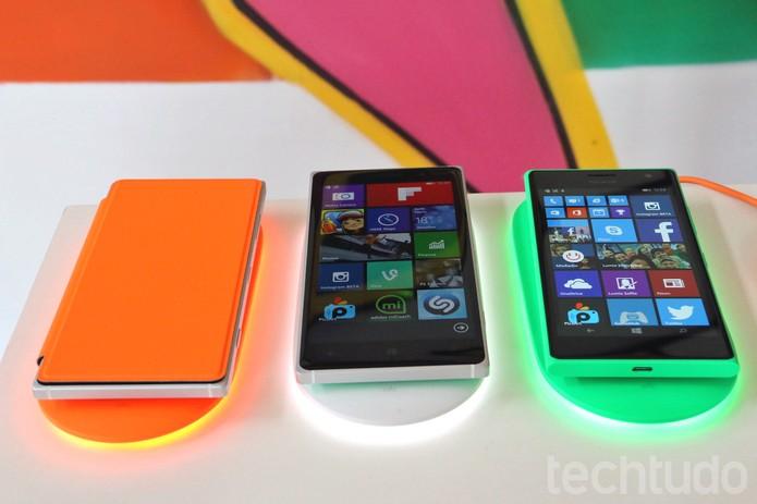Plataforma de carregamento sem fio da Microsoft para os smartphones da linha Lumia (Foto: Fabrício Vitorino/TechTudo)
