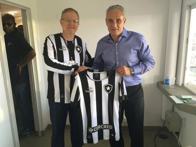 Carlos Eduardo Pereira e Tite (Foto: Divulgação/Botafogo)