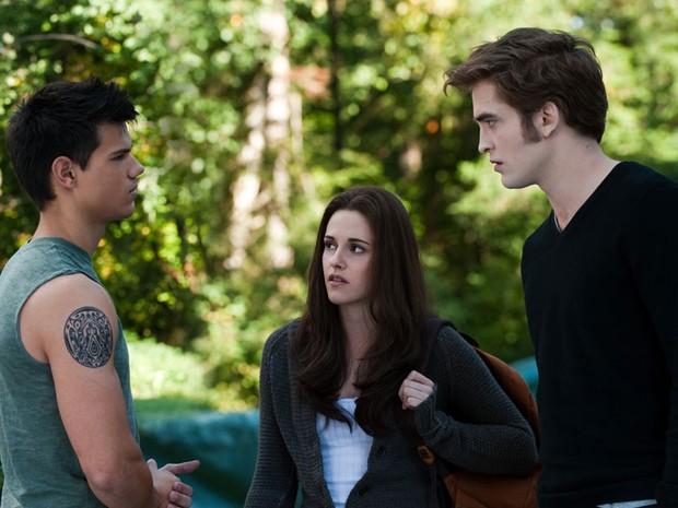 'Eclipse' (2010) – O triângulo amoroso que movimenta as ações da saga: Jacob (Taylor Lautner), Bella (Kristen Stewart) e Edward (Robert Pattinson) (Foto: Divulgação)