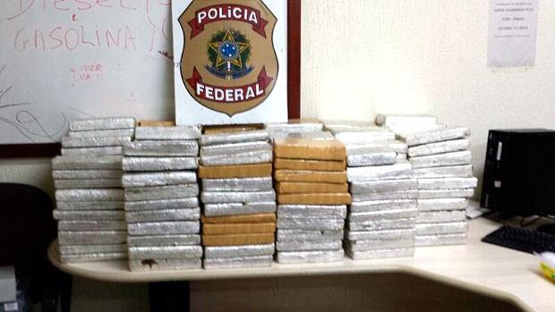 Droga foi apreendida pela PF na manhã desta quinta (14) em Mossoró (Foto: Divulgação/Polícia Federal do RN)