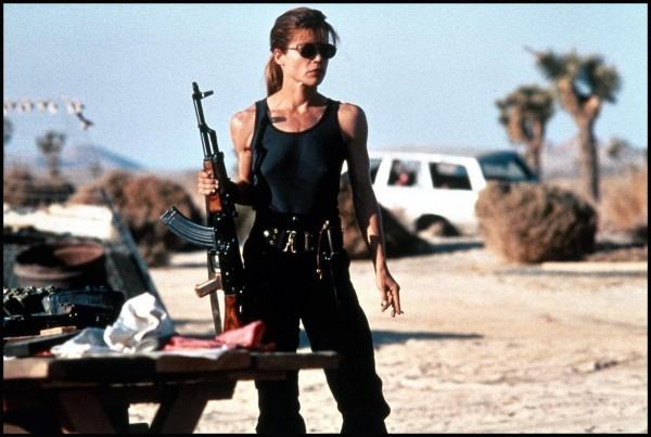Linda Hamilton como Sarah O'Connor (Foto: Divulgação)