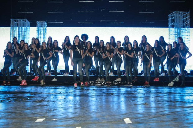 Ensaio geral das candidatas a Miss São Paulo (Foto: Raphael Castello / AgNews)