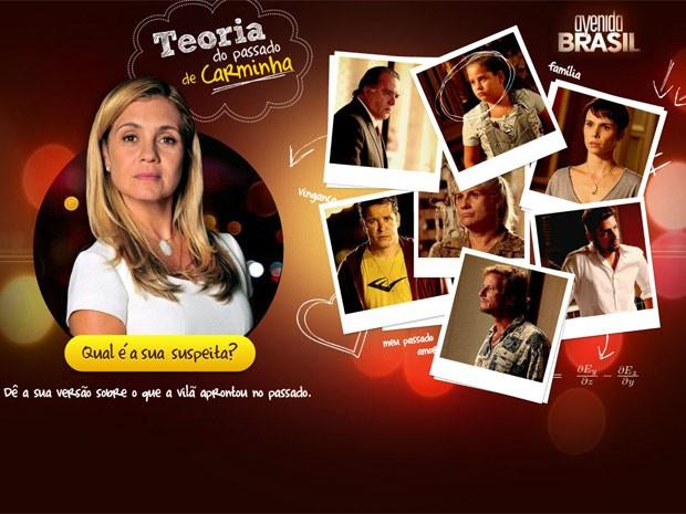 Teoria do passado da Carminha (Foto: Avenida Brasil / TV Globo)
