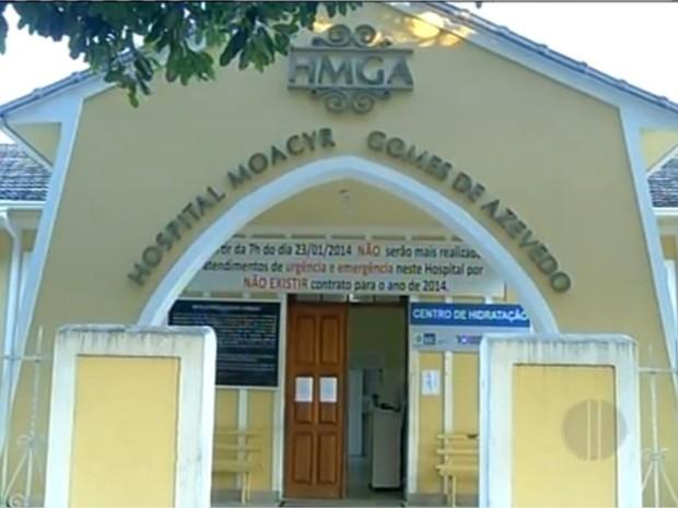 Hospital de Cambuci (Foto: Reprodução/InterTv RJ)