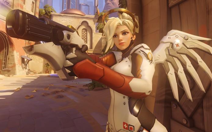 Mercy pode reviver aliados (Foto: Divulgação/Blizzard)