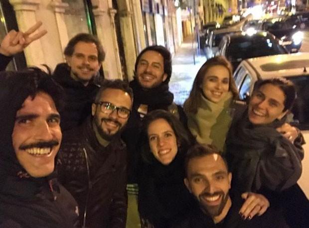 Reynaldo Gianecchini, Ricardo Tozzi e Giovanna Antonelli com amigos (Foto: Reprodução Instagram)