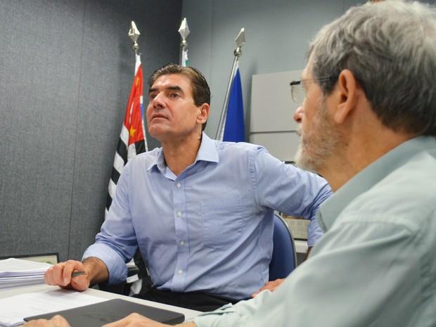 Duarte Nogueira afasta ideia de reeleição e diz que é possível colocar Prefeitura de Ribeirão Preto em ordem em quatro anos (Foto: Adriano Oliveira/G1)