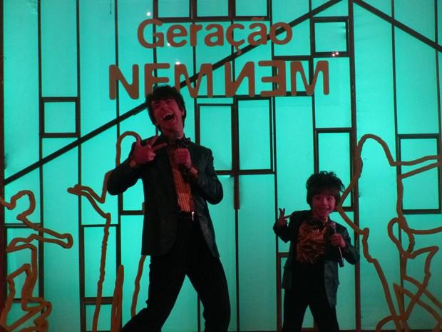 Dupla faz sucesso e anima plateia (Foto: Geração Brasil/TV Globo)