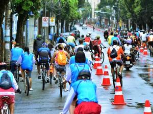 Ciclofaixa é inaugurada em Salvador (Foto: Max Haack/Agecom)