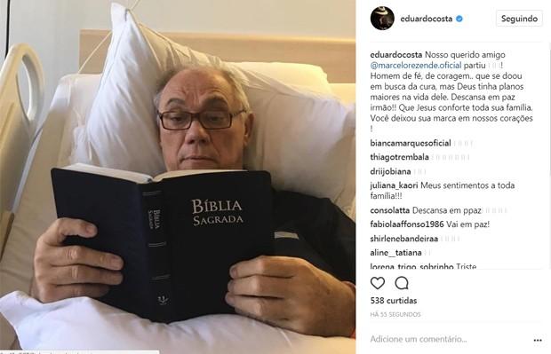 Eduardo Costa lamenta morte de Marcelo Rezende (Foto: Reprodução/Instagram)